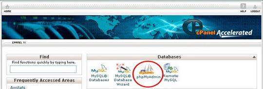 Databases PHPMYADMIN