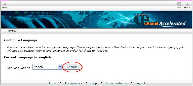 Change Language