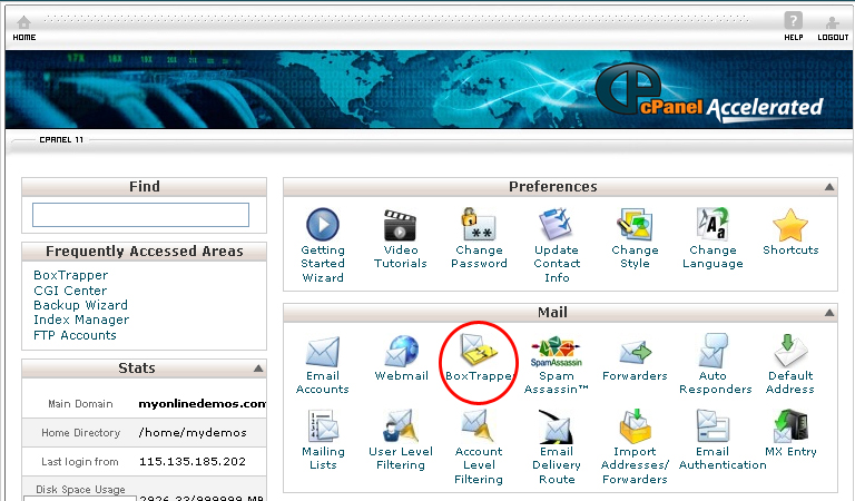 Cpanel Account