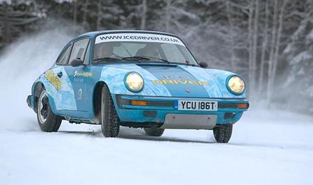 Drive car in ice