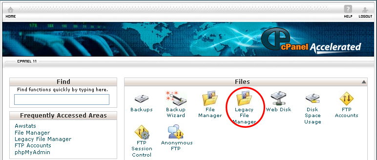 How to Use Legacy File Manager