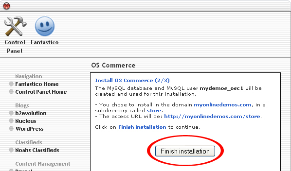 How to Install OS Commerce through Cpanel