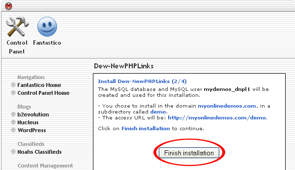 How to Install Dew NewPHPLinks