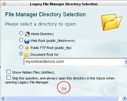 Lagacy File Manager