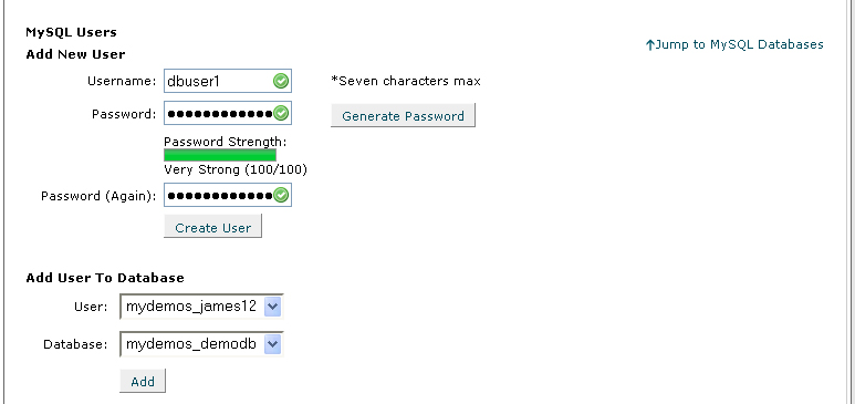 Password Again field