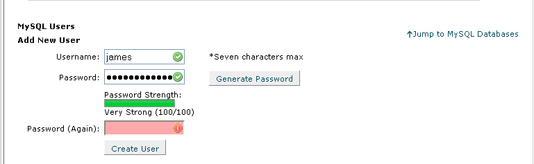 Password Text box