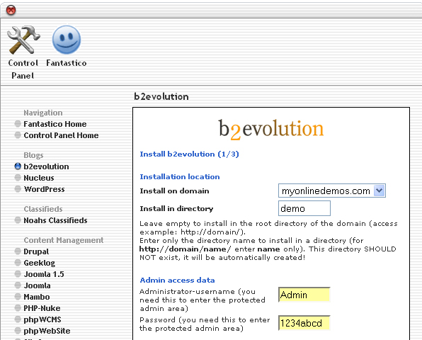 How to Install b2evolution through cPanel