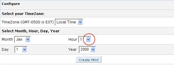 Select Hour