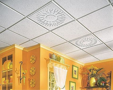 How to tile ceiling