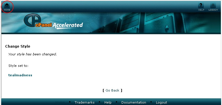 View CPanel Theme