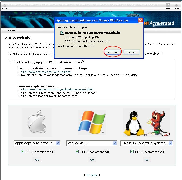 WebDisk.vbs file