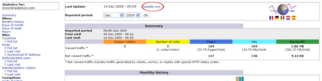 How to Check the Stats of a Website in Cpanel update statistic 1024x259