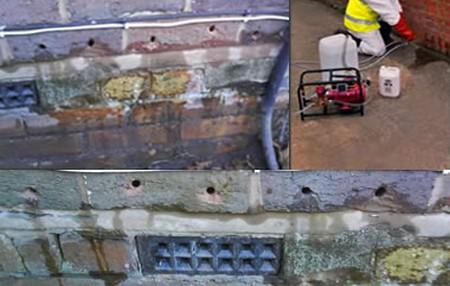 Cavity wall Hiding Damp