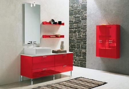 Red Bathroom Vanity