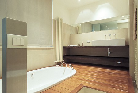 Wood Floor bathroom