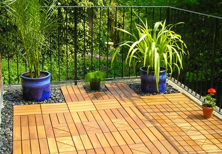 Garden Floor Timber Decking