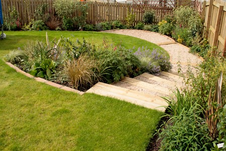 Narrow Sloping Garden