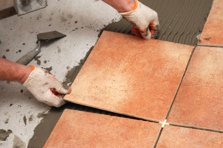 Lay Hard Floor Tiles