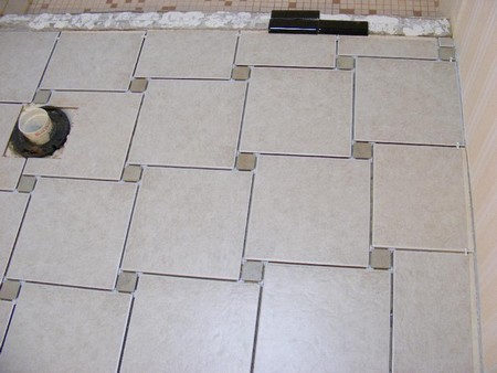 How to lay soft floor tiles for Opposite of floor