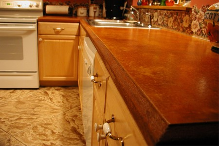 How to Mix Recycled Glass in a Concrete Countertop Concrete Countertop 5