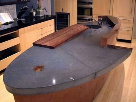 how to mix recycled glass in a concrete countertop