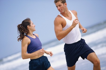 How to Spring Back into Shape Couple on Beach