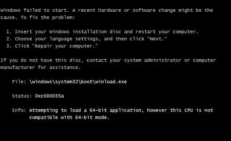 системные проблемы при загрузке Windows - ошибка 0xc000000f