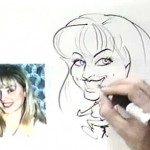 How to Draw the Caricature of a Woman