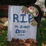 How to Decorate with Halloween Gravestones